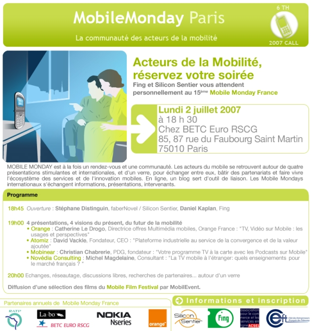 Mobile Monday Paris