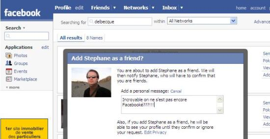 Stephane et Facebook