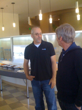 Steve Ganz and Christophe Ducamp at Linkedin office